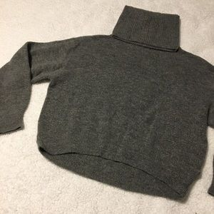 Charcoal gray turtle neck sweater